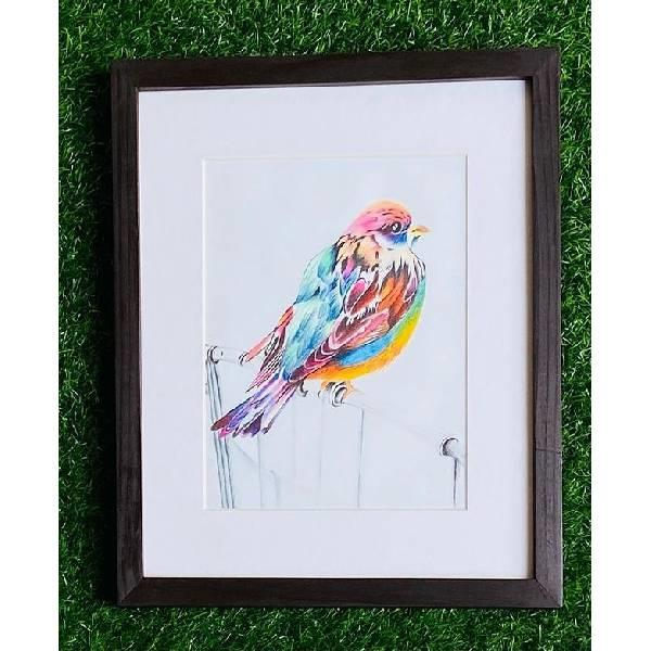 PENCIL COLOUR PAINTING (Born to b wild-Code-024)