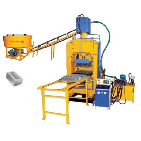 Semi-Automatic 6 KVT Hydraulic Brick Making Machine