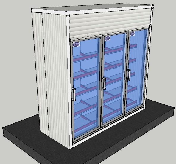 Display Cold Room 8.2x3x8 ft