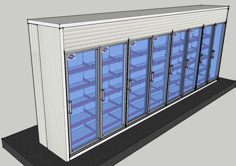 Display Cold Room: 21x3x8 ft