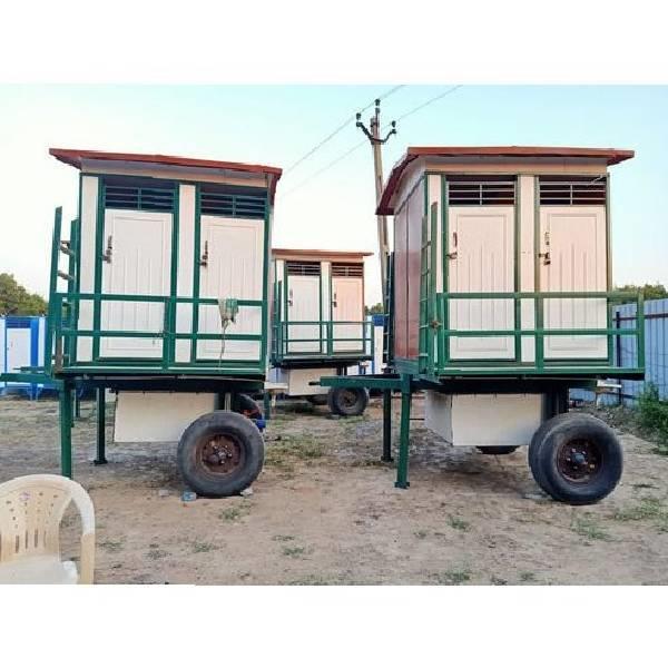 Wheel FRP Mobile Toilet
