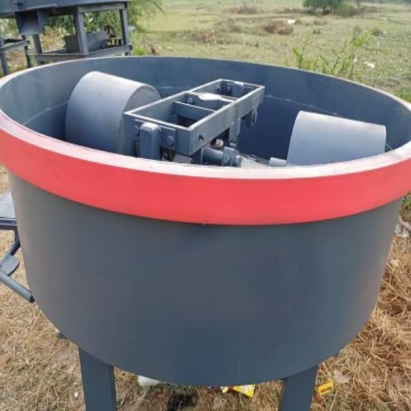 Fly Ash Pan Mixer, For Industrial, Capacity: 200-600Kg