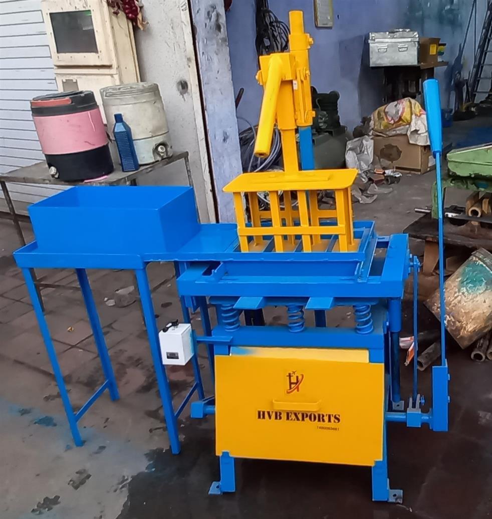 Manual Fly Ash Brick Making Machine, Cement brick making machine, HVB300m, HVB EXPORTS
