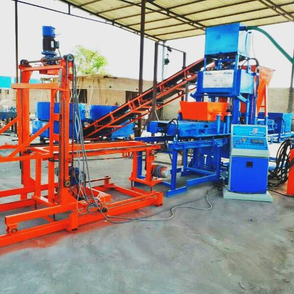Fully Automatic Fly Ash Brick Making Machine with Auto Stacking System, 10 Brick per stoke, HVB1800 | HVB EXPORTS