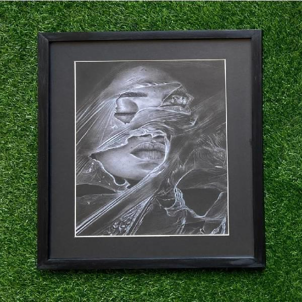 CHARCOAL PORTARIT PAINTING (Shades of passion CODE-01)