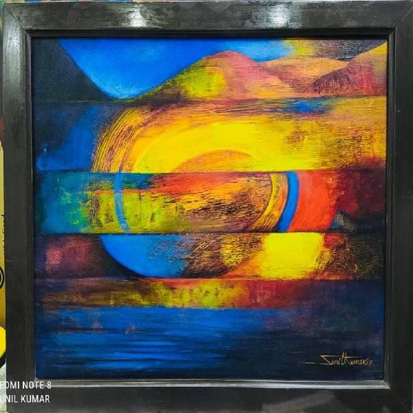Acrylic painting-abstract art ( coats of quality part-1 code-007)