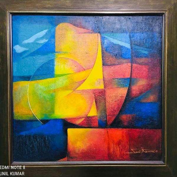 ,ACRYLIC ABSTRACT  PAINTING( Coats of quality (part-2)( Code(008)