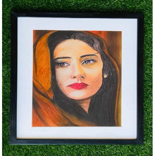 Soft pastel portrait painting (shades of passion )code-02