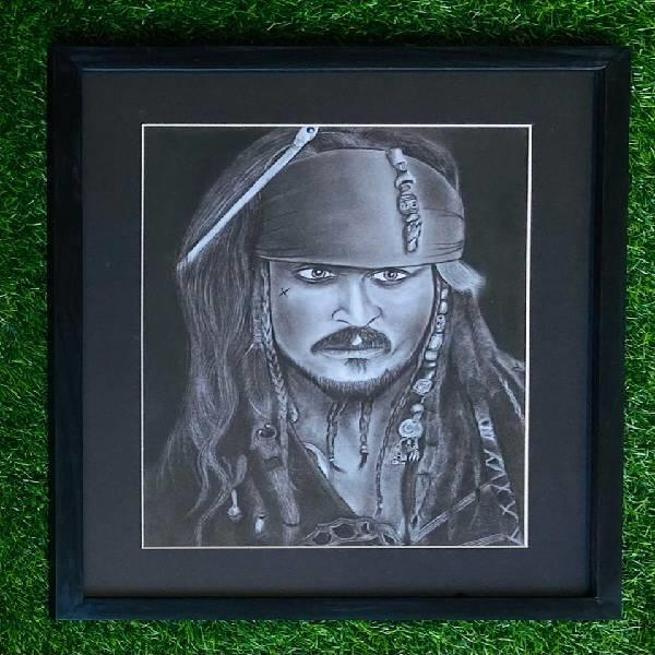 CHARCOAL PORTRAIT PAINTING( Shades of passion code-05)