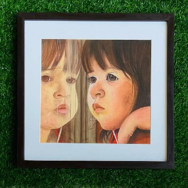 Softpastel portrait painting (shades of passion )code-07