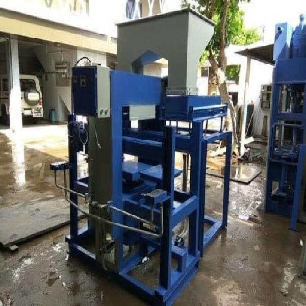 Hydraulic 3-3 cavity cement brick making machine
