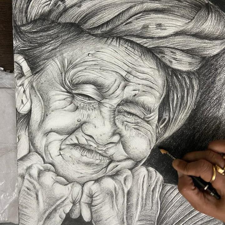 Pencil shading Art & Painting course for Seniors  Classes