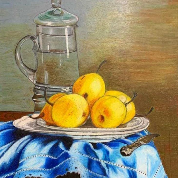 Oil pastel stilllife painting course for seniors [offline] (12+no age bar )