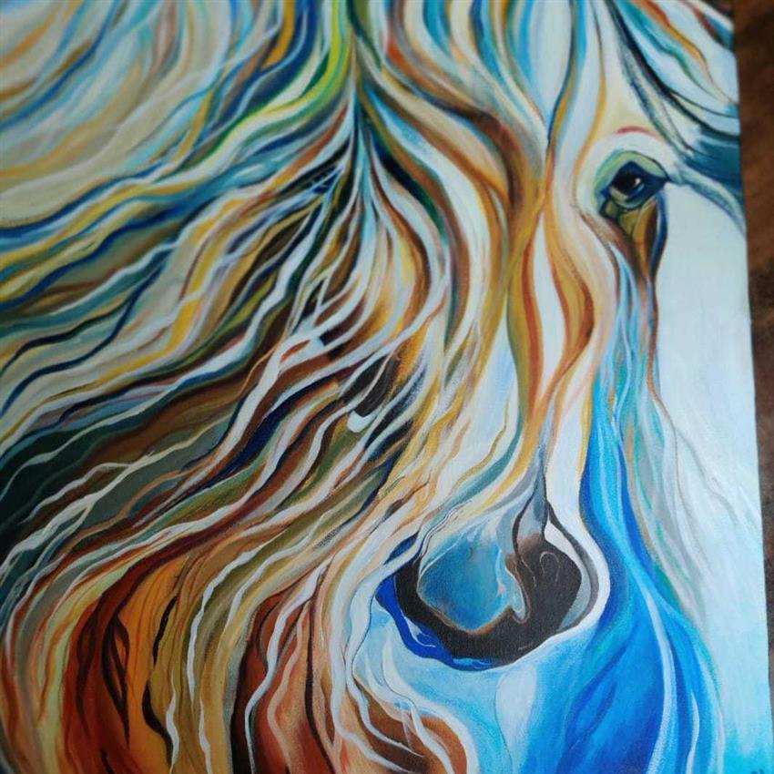 Acrylic painting abstract seniors classes (12+no age bar)