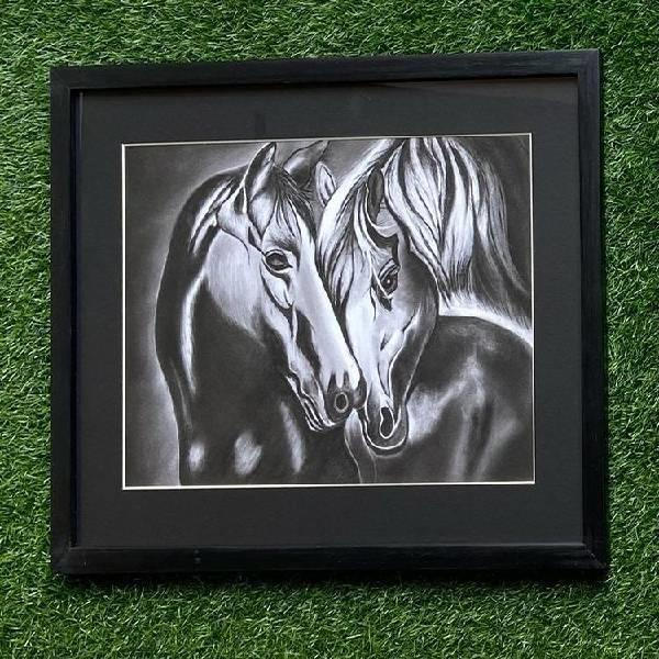CHARCOAL PAINTING (Born to b wild-Code-022)