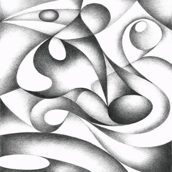 Pencil shading fineart BASIC ABSTRACT course (seniors) Age 12+