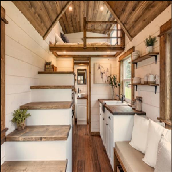 Wood Panel Build Tiny Portable Home