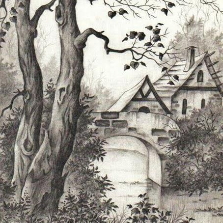 Landscape art pencil shading course online classes