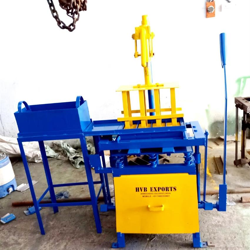 Manual Hand Operated Fly Ash Brick Making Machine, HVB Industries