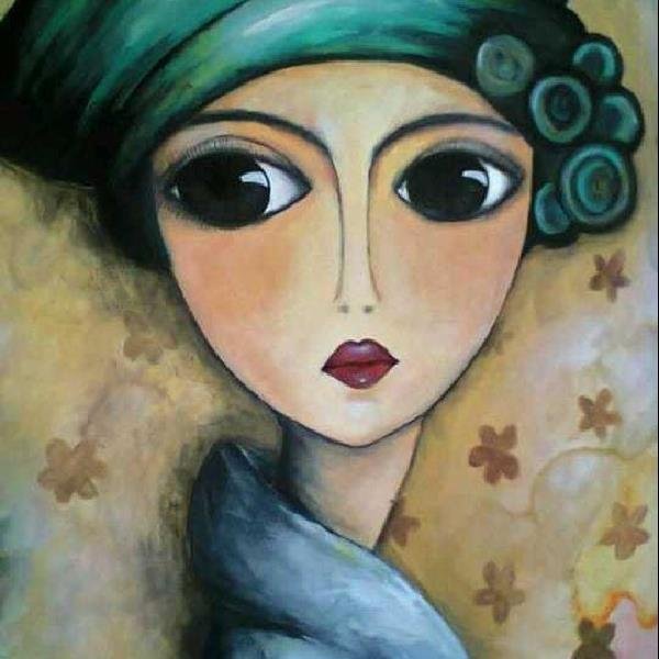 Oil pastel painting illusionportrait juniors art painting classes