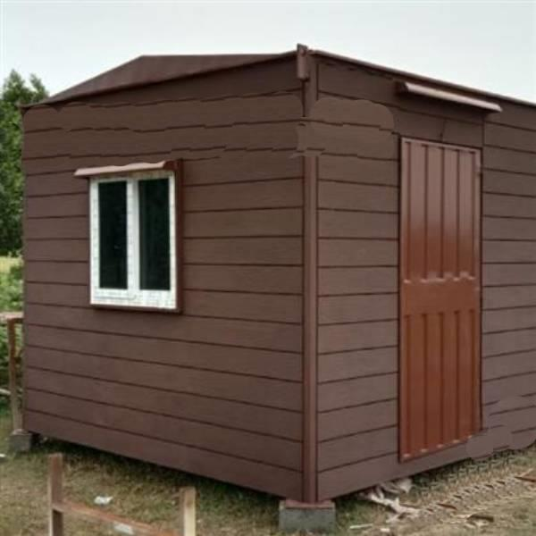 Prefab Portable farm house with cot and shera planks