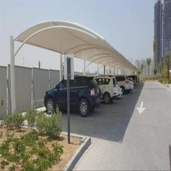 Fiber White Car Parking Shed