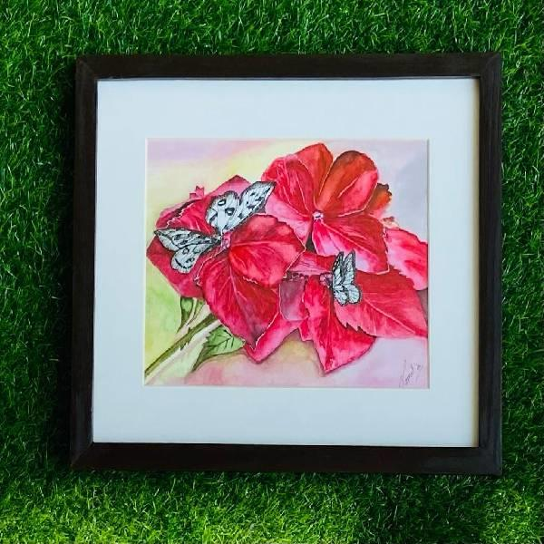 MIX MEDIA PAINTING (Beauty in Bloom ) CODE -014