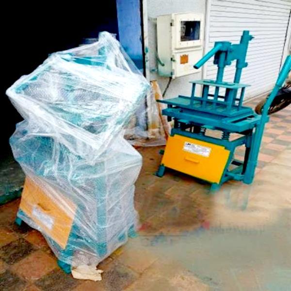 Manual Fly Ash Brick Machine With Vibration FBM 300 | mini hand operated cement bricks blocks making machine | AKSHAR PRECATS INDUSTRIES
