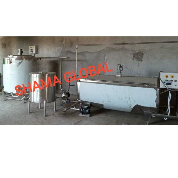 Milk processing chiller