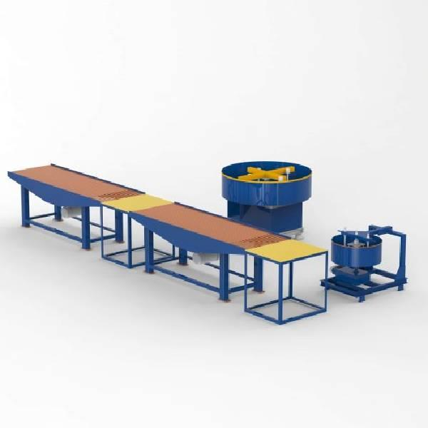 Concrete Zigzag Paving Block Making Machine , interlocking blocks making machine , vibration table setup | AKSHAR PRECAST INDUSTRIES