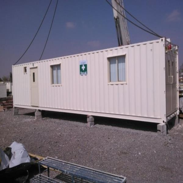 Rectangular Mild Steel MS Portable Container Office Cabins