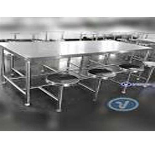 SS Dining Table 8 Seater 8x2.5