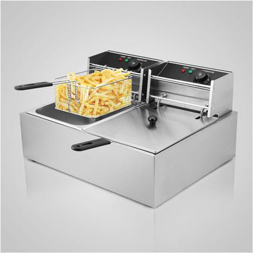 1800W 16L Commercial Electric Deep Fryer With Double Basket, (lxwxh) 22.4x17.71x12.2 Inch, Capacity: 16 Ltr