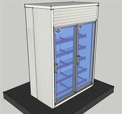 Display Cold Room- 5.6x3x8 ft