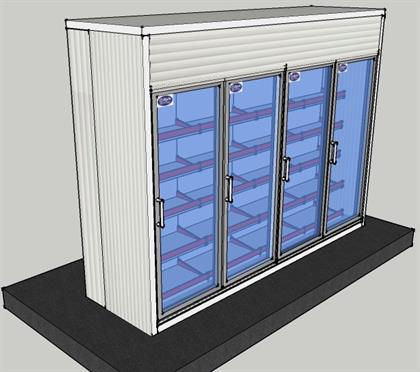 Display Cold Room- 10.8x3x8 ft
