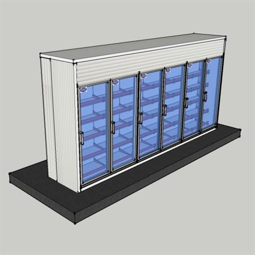 Display Cold room  15.9x3x8 ft