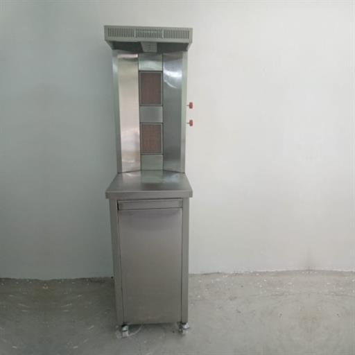 Shawarma Machine Cylinder Model Double Burner Top Stainless Steel