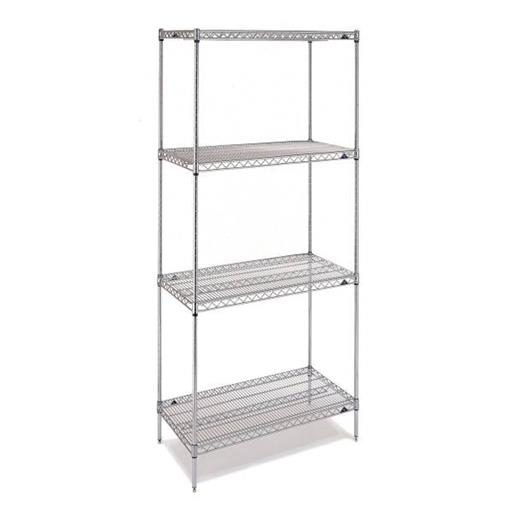 "stainless steel Rack 72""(H)X36""(W)X18""(D)"