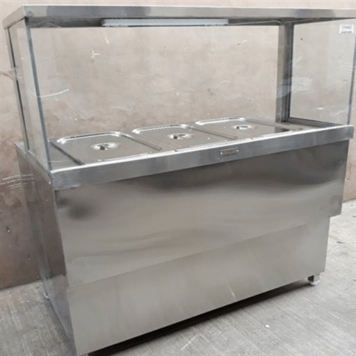 Hot Case Round Glass Display Counter
