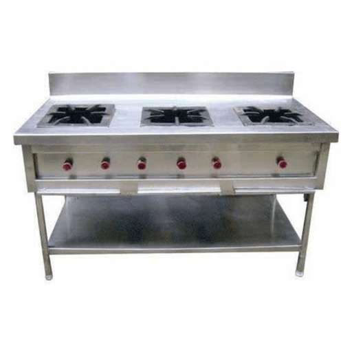3 Burner Cooking Range, Usage: For Cooking