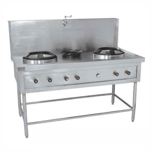 Platform Type Chinese Cooking Range Two Burner, Usage: For Cooking