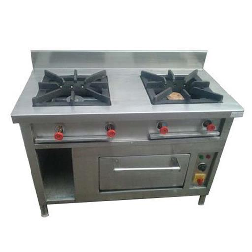 2 Burner Commercial Gas Stove with Oven