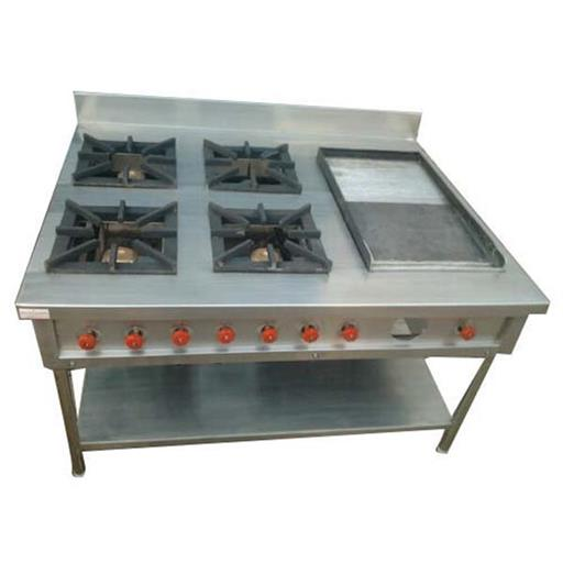 Four Burner Commercial Gas Stove