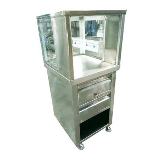 Silver Stainless Steel Paneer Display Counter