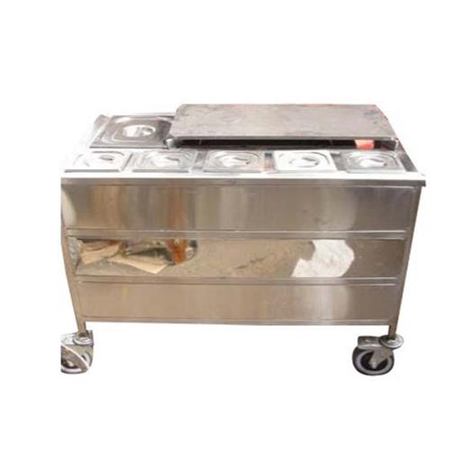 Silver Rectangular Stainless Steel Bain Marie