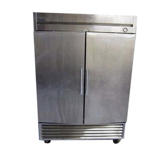 Silver Double Door Stainless Steel Refrigerator