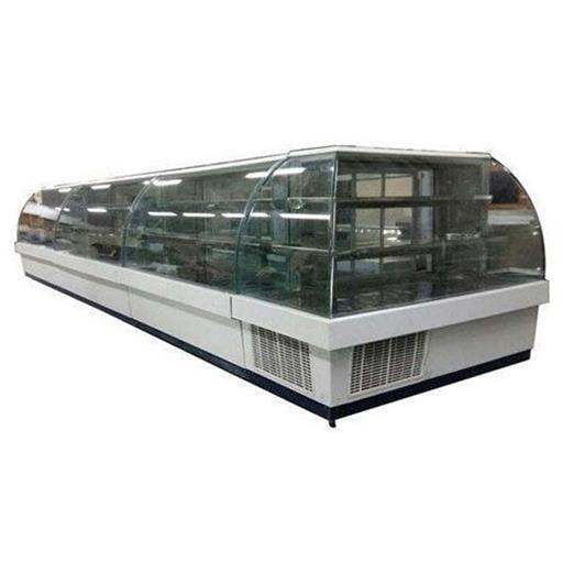 Curved SS And Glass Counter