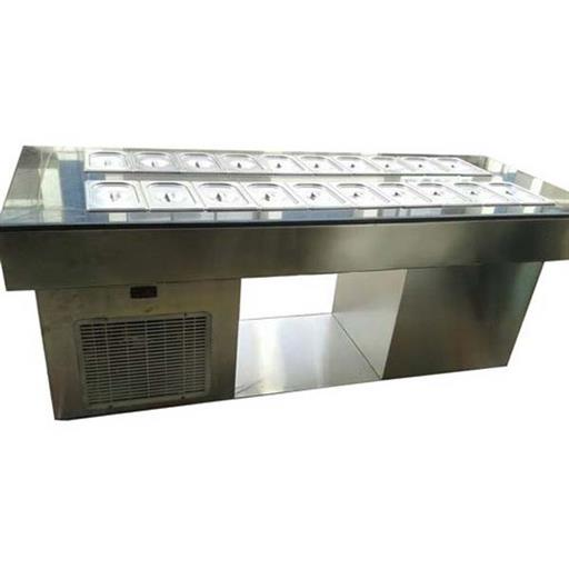 Long Cold Salad Bar for Commercial