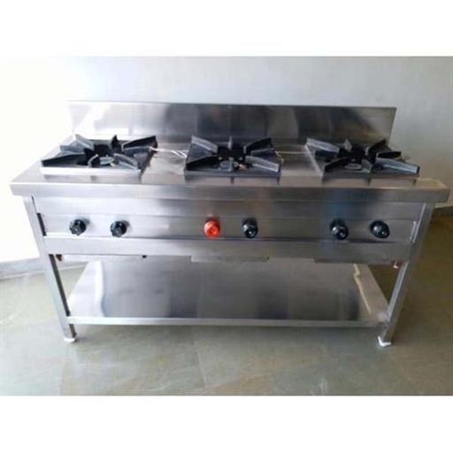 Stainless Steel Commercial 3 Burner Gas Range