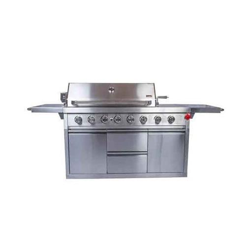 Stainless Steel Grill Four Burner Unit